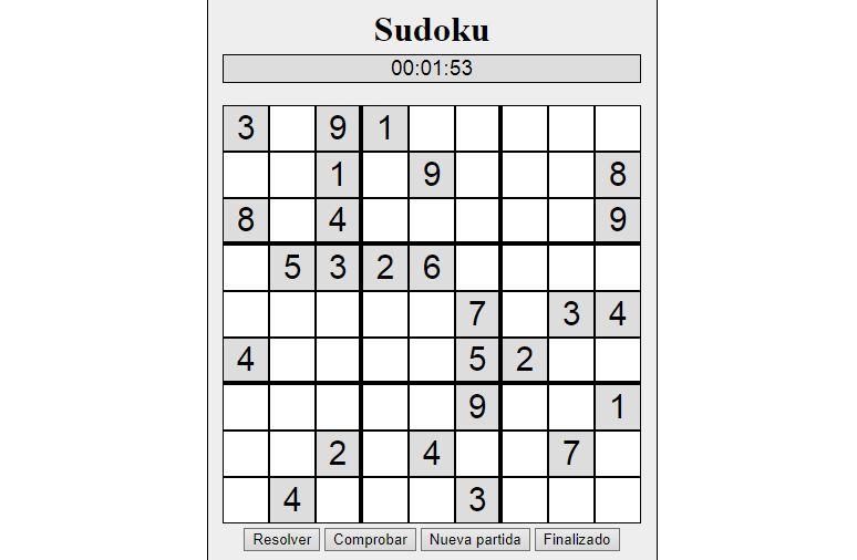 sudoku para tu web